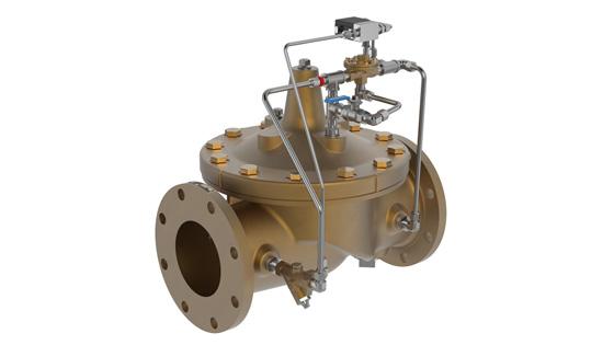134-60 Válvula Solenóide Equipada Com Válvula Bypass Manual Para Dilúvio De Água Do Mar